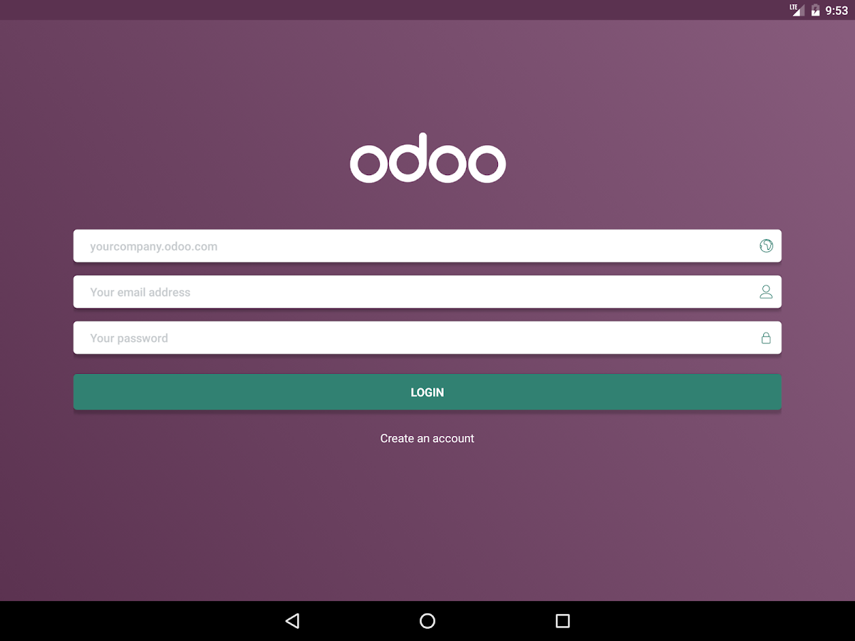 Odoo- screenshot