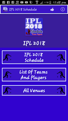 IPL 2018 Schedule 1.5 screenshots 1