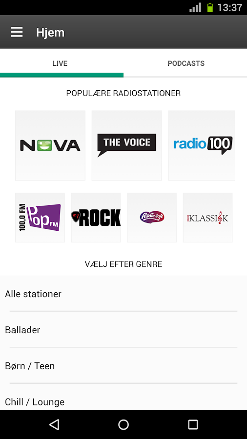 Radio Play DK - screenshot