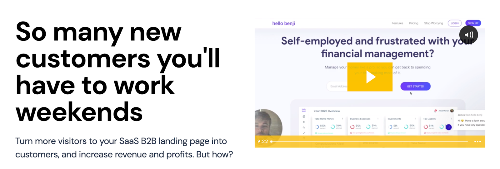 I run a marketing service where I roast your landing page professionally for just £149