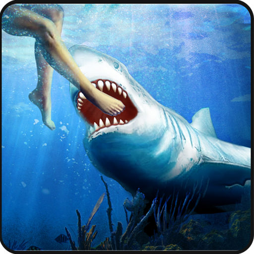 Angry White Shark Attack World 動作 App LOGO-APP開箱王
