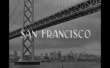 Photo: Shot 1 of 18.  Duration: 5 seconds.  The first of four exterior establishing shots.  This one smacks of a painting rather than a location shot.  The SUPER spells out the setting.  But the bridge pictured is so iconic the super is hardly necessary.  The entire opening embodies the redundancy of Hollywood cinema: working hard to get its literal meaning across, even to the guy asleep in the back row.