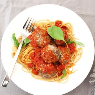 Monday Meatballs with Spaghetti