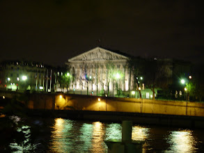 Photo: The Palais Bourbon, just on the Left Bank; home to the French Parliament (L'Assemblee Nationale) since 1798, and always under close police surveillance.