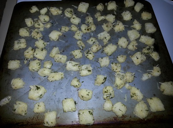 Spread pieces onto a baking sheet, making sure to spread apart. Sprinkle with fresh...