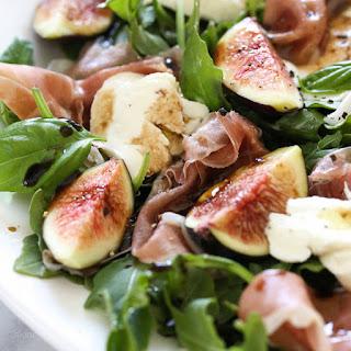 Prosciutto, Mozzarella and Fig Salad with Arugula.