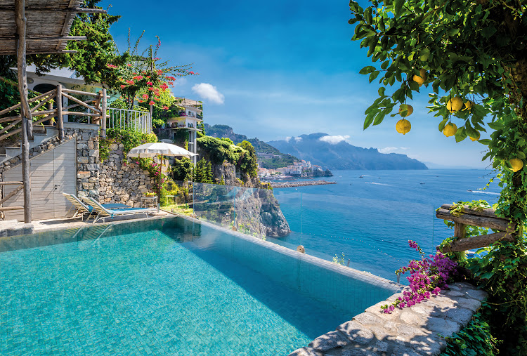 Hotel Santa Caterina, Italy, a glam grande dame, the best spot on the Amalfi Coast.