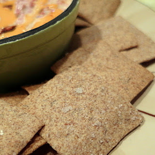 Caraway Rye Crackers with Reuben Spread