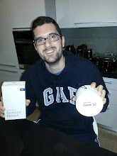 Photo: Giveaway winner Constantinos showing off his new Note 5 & Gear S2.