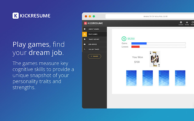 create resume or cv build career website in minutes and play cognitive games
