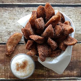 Apple Fries with Vanilla Whipped Cream {Vegan} Recipe