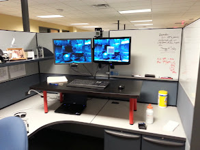Photo: Farther away view of My Stand Up Desk