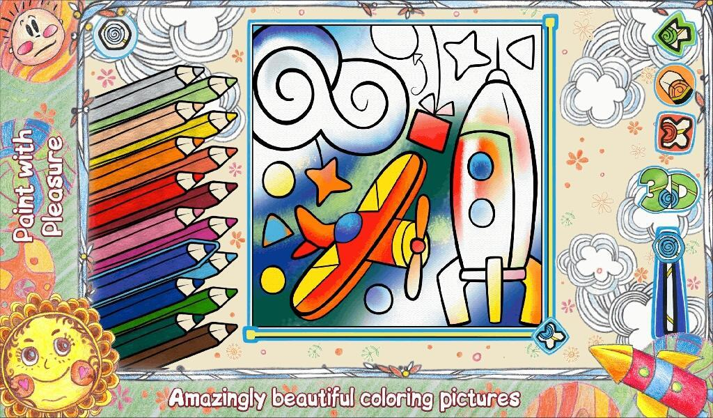 Kids Coloring 3D LiveBook3D- screenshot
