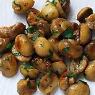 Mushrooms Sauteed with Garlic Butter.