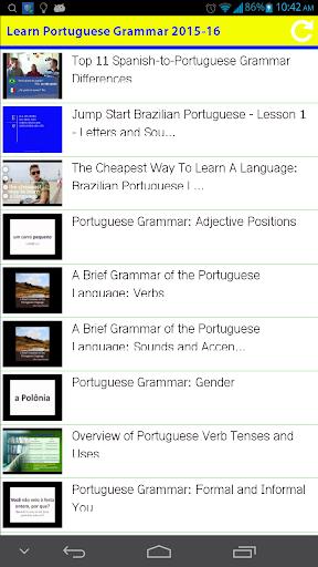 Learn Portuguese Grammar 2015