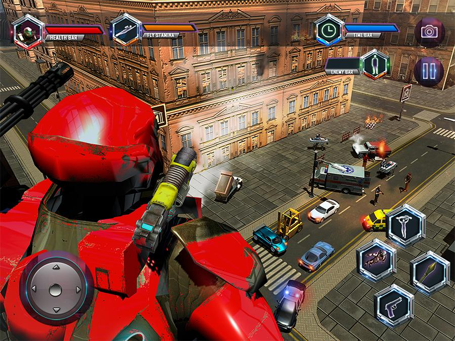 Flying Robot Grand City Rescue- screenshot