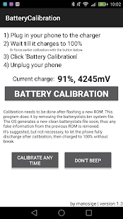Battery Calibration – Vignette de la capture d'écran