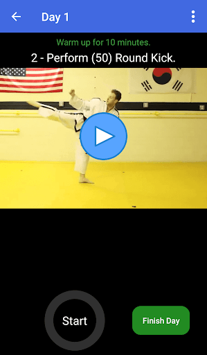 taekwondo training - offline videos screenshot 2