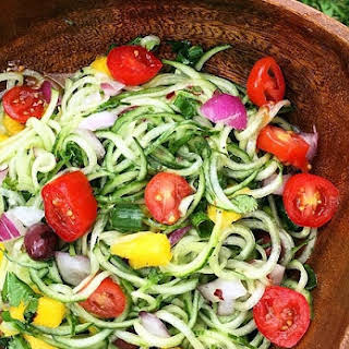 """Impromptu Raw Cucumber Sweet & Spicy """"Noodles""""."""