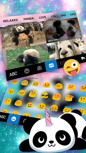 Kawaii Unicorn Panda Keyboard Theme 1.0 screenshots 4