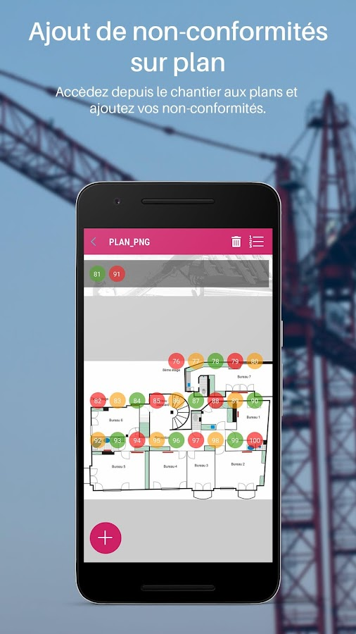 Batiscript suivi de chantier applications android sur for Application de suivi de chantier