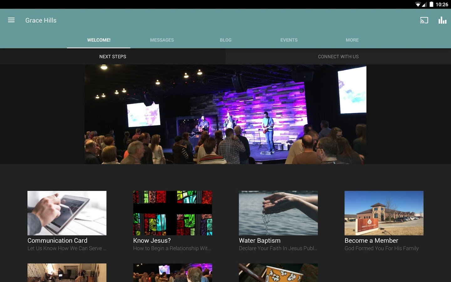 Grace Hills Church of NWA- screenshot