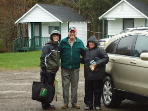 Photo: Sat, May 14/11 SBC ATV Day - Connie Demerchant, Bob McIsaac, Judy McIsaac. Is Connie packed for an overnighter?)