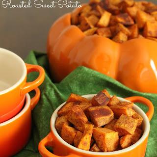 Pumpkin Spice Roasted Sweet Potatoes.