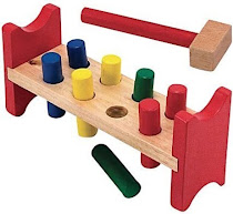Melissa and Doug Deluxe Wooden Pound-A-Peg Play Set
