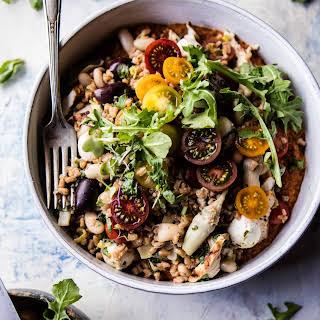 Mediterranean Chicken and Farro Salad..