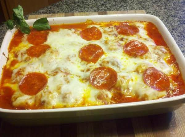 Italian Ravioli Pepperoni Bake Recipe
