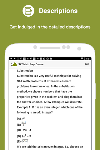 SAT Math Prep Course- screenshot