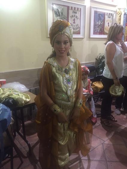 Aitana Rodríguez participó en la Entrada Mora infantil