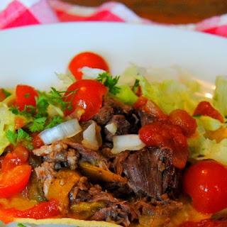 Slow Cooker Beef Tostada's
