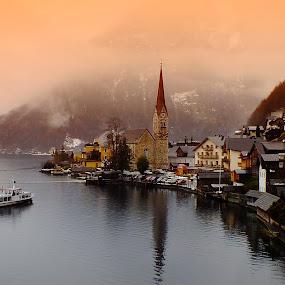 Hallstatt, Austria by Arda Erlik - City,  Street & Park  Historic Districts ( travel, hallstatt, historical, austria, city )