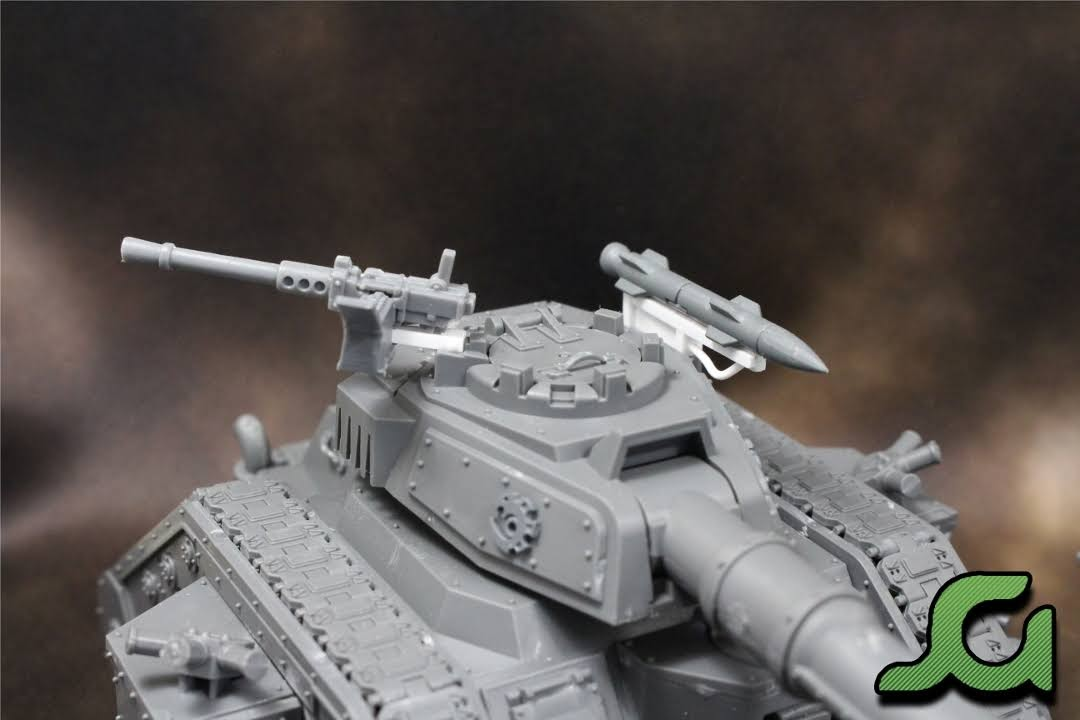 Leman Russ Turret with Custom Mounts