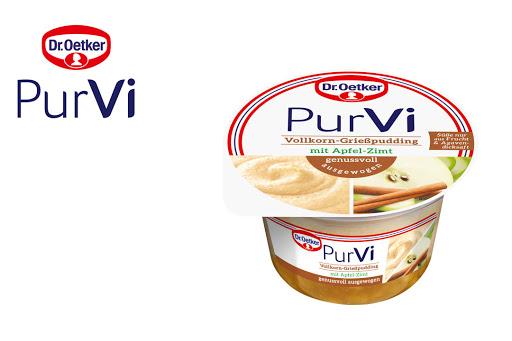 Bild für Cashback-Angebot: 2 für 1 PurVi Vollkorn-Grießpudding Apfel-Zimt - Purvi