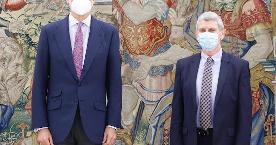 Felipe VI recibe al almeriense José Manuel Pérez Tornero como presidente de RTVE