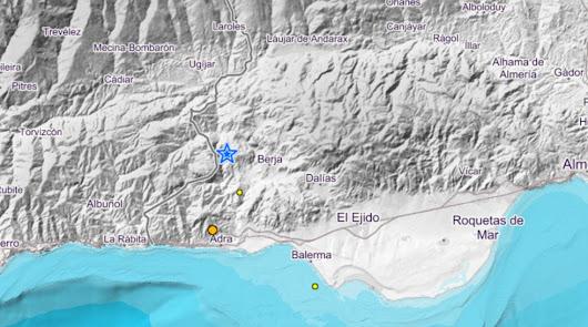La tierra tiembla en Almería con un terremoto con epicentro en Berja