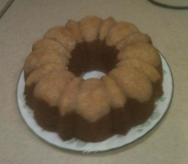 Frosted Two Tone Pumpkin Bundt Cake Recipe