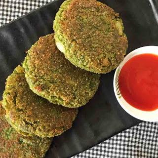 Green Spinach & Oats Cutlet