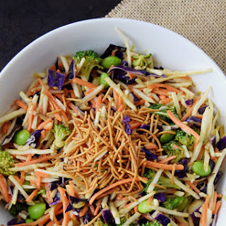 Asian Broccoli Slaw with Ginger Peanut Dressing