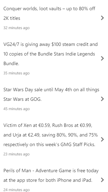 Here Be Gamer Deals- screenshot