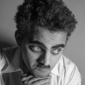 Charlie by Nitesh Badave - People Portraits of Men ( black and white, newer, chaplin, charlie, portrait )