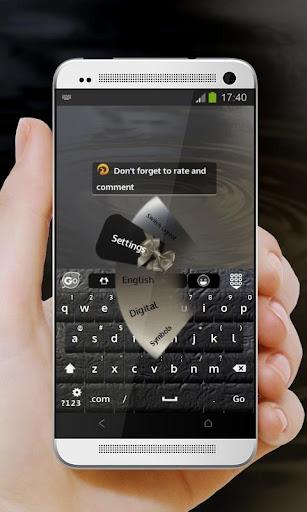 無料个人化Appのエレガントブラック GO Keyboard|記事Game