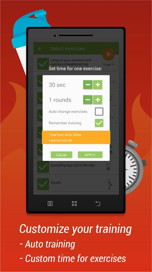 Butts, legs and hips workout- screenshot