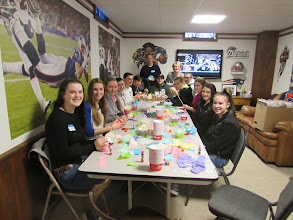 Photo: St Mary's Parish Confirmation Students making May Baskets for our Star Project Competition.