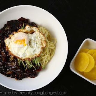 Jjajangmeyon Korean Black Bean Noodles.