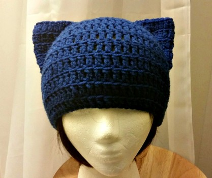 Free Crochet Pattern Cat Ear Beanie