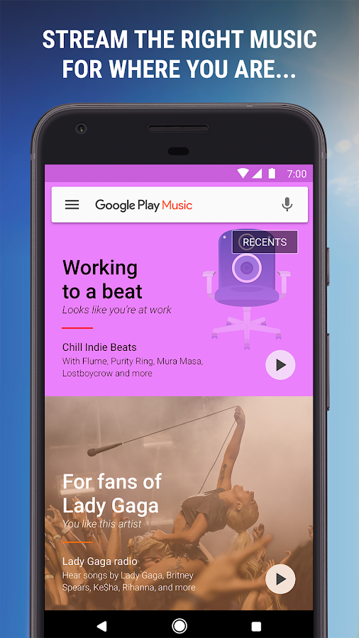 Google Play Music: captura de pantalla